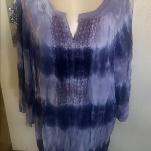 Boutique tie dye purple top plus 2XL